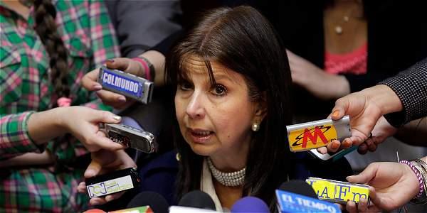 María Victoria Calle presidenta encargada de la corte Constitucional.