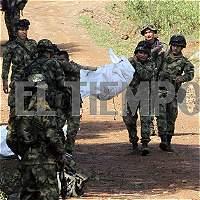 Imágenes: así rescataron cuerpos de los militares asesinados en Cauca