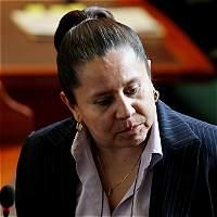 El carro en que trasladaban María del Pilar Hurtado se estrelló