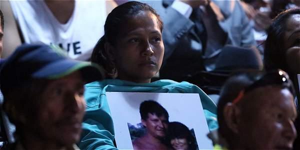 Familiares de mujeres víctimas asistieron a la presentación del informe de la Fundación Nydia Érika Bautista.