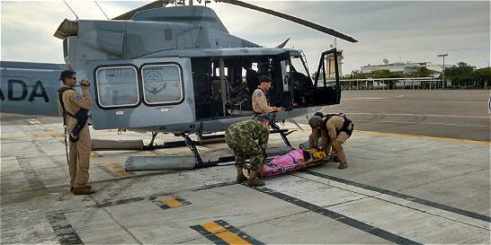 Armada evacuó a mujer que se accidentó en rally en La Guajira