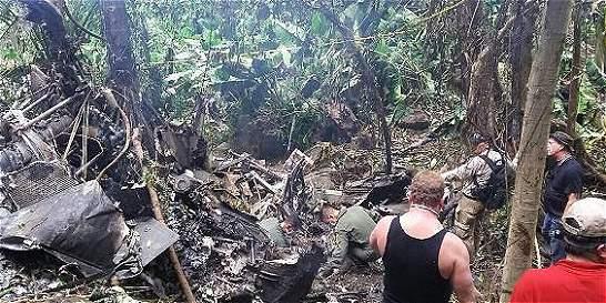 Helicóptero que cayó en Urabá no fue impactado desde tierra