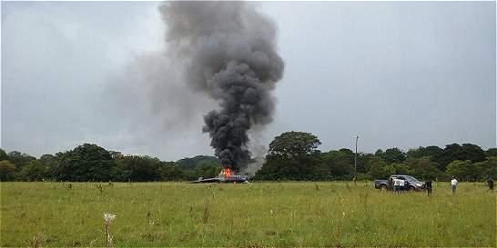 Se salvaron seis policías de un accidente de helicóptero en el Meta