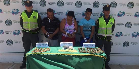 Capturan a cuatro integrantes de una familia con droga en su estómago