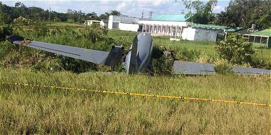 Avión fantasma se salió de la pista en Caquetá