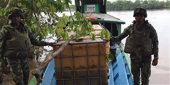 Armada incautó 5.000 galones de combustible de contrabando en Putumayo