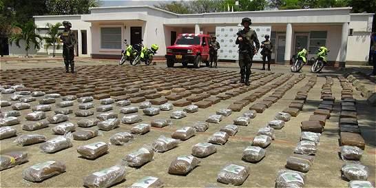Policía decomisó una tonelada de marihuana en el Cauca