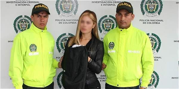 Jeimy Pachon Rey fue capturada por la Policía de Migración en el aeropuerto El Dorado.