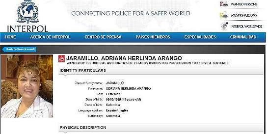 Fiscal ordena libertad de una de las mujeres mas buscadas por Interpol