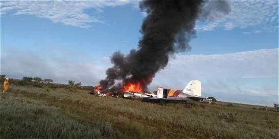 Falla en un motor habría causado accidente de avión en Puerto Gaitán
