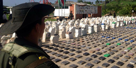 Policía incautó 8 toneladas de cocaína del 'clan Úsuga' en Antioquia