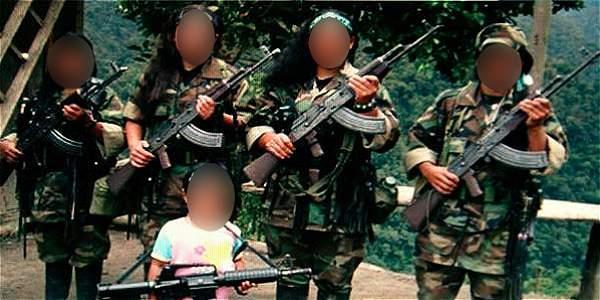 En 39 años, 11.556 niños han sido reclutados por las Farc
