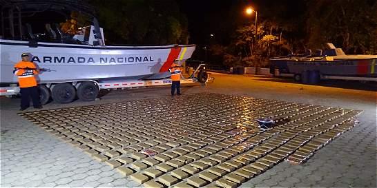 Incautada más de una tonelada de cocaína por la Armada