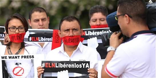 Los periodistas de RCN Diego D'Pablos y Carlos Melo ya están en casa