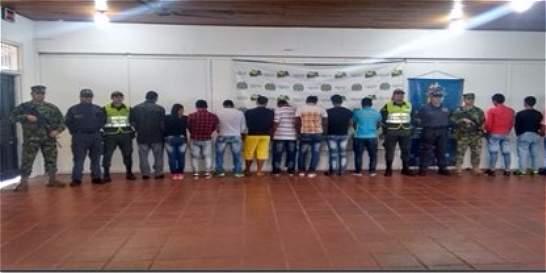 21 personas fueron capturadas por minería ilegal en Caquetá