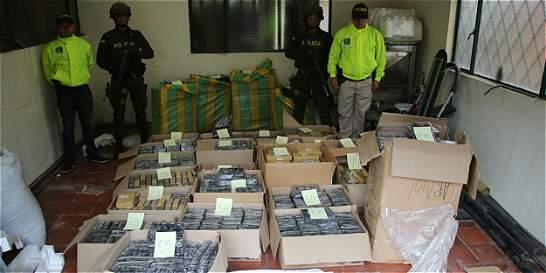Incautan más de una tonelada de cocaína en Fusagasugá