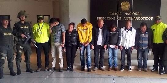 Siete capturados por utilizar correos humanos con cocaína a Europa