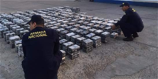 Armada Nacional incauta 2.311 kilos de cocaína