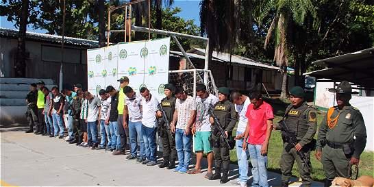 Capturadas 17 personas en Puerto Boyacá dedicadas al microtráfico