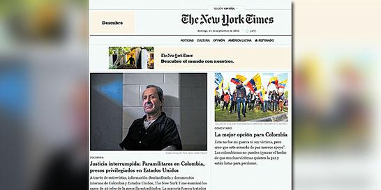 'New York Times' cuestiona beneficios a jefes paramilitares en EE. UU.
