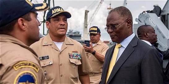 Arribó a Haití buque colombiano con ayuda humanitaria