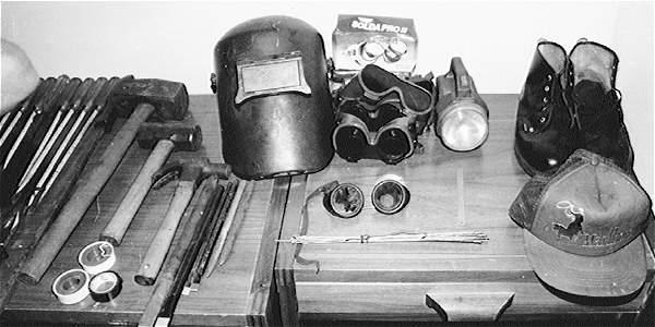 Estos fueron algunos de los elementos usados por los ladrones para el robo al Banco de La República de Valledupar.