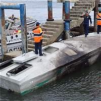 Armada intercepta semisumergible transportando una tonelada de cocaína