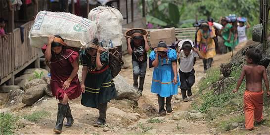 Sindican al Eln de desplazamiento masivo en Risaralda