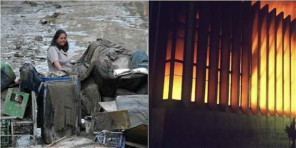 Imágenes de archivo de la tragedia de Armero y la retoma del Palacio de Justicia.