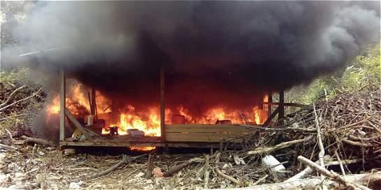 Destruyen 168 laboratorios de coca de la 'Constru'