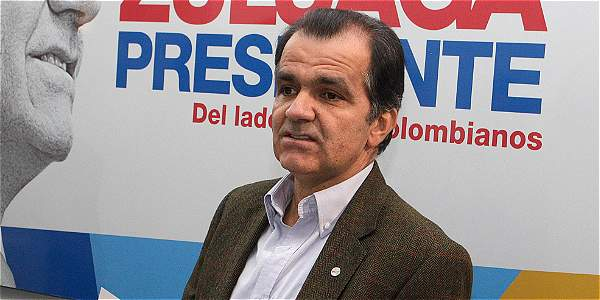 Óscar Iván Zuluaga, candidato a la presidencia por el partido Centro Democrático.