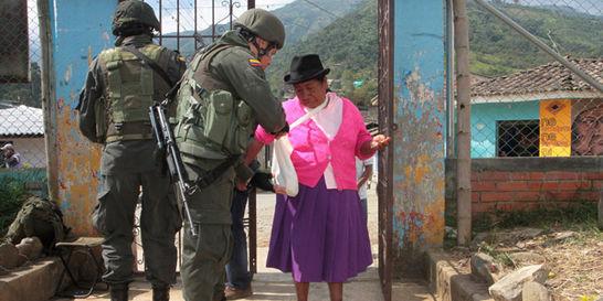 Toribío votó en paz, pero no masivamente