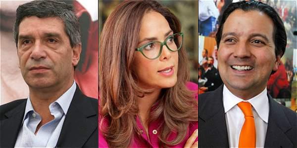 Rafael Pardo, Gina Parody y David Luna.