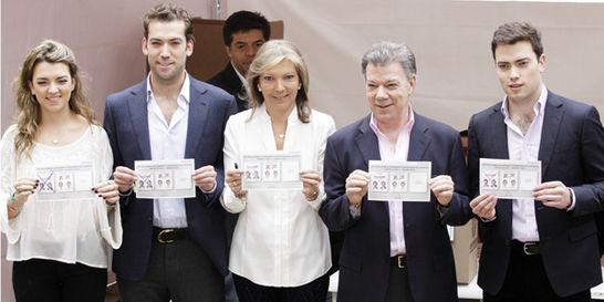 La familia que no desampara al reelegido presidente Santos