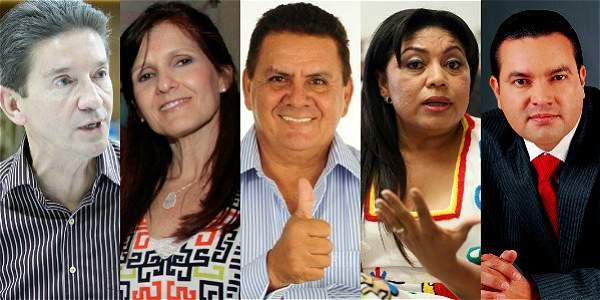 (De izq. a der.) Luis Pérez, Rosa Cotes, Arnulfo Gasca, Oneida Pinto y Didier Tavera.
