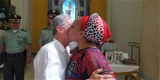 Piedad Córdoba y Álvaro Uribe se reunieron en Riohacha