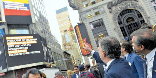 En secreto / Colombia brilló en Times Square