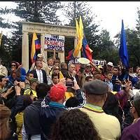 Simpatizantes del 'No' marcharon en varias calles de Bogotá