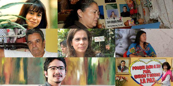 Primera delegación de víctimas que viajará a la mesa de diálogos.