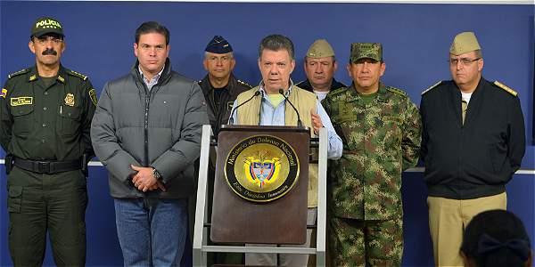Declaración de Santos al suspender los diálogos de paz
