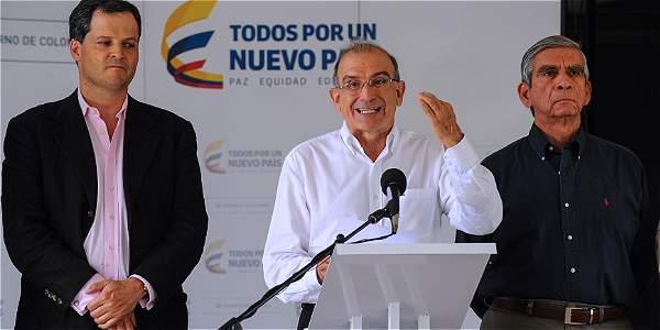 Negociadores del Gobierno colombiano en Cuba.