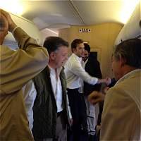 Santos ya está en camino a La Habana para encuentro con 'Timochenko'