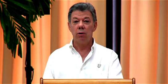 'La paz se hizo posible, ahora vamos a construirla': Santos