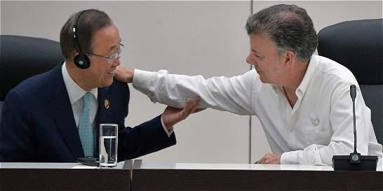 'Trabajemos para que la paz sea completa en Colombia': Ban Ki-moon