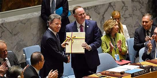 Santos entregó acuerdo de paz al Consejo de Seguridad de la ONU
