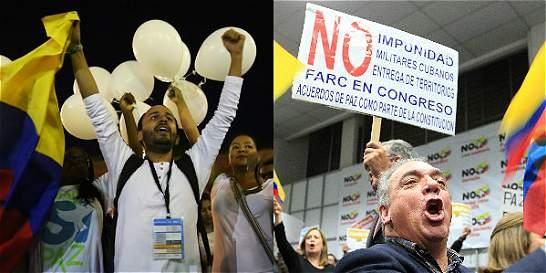 'Sí' y 'No', los eventos de este lunes en torno a la firma de la paz