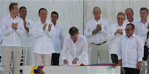 La firma final de paz en Cartagena