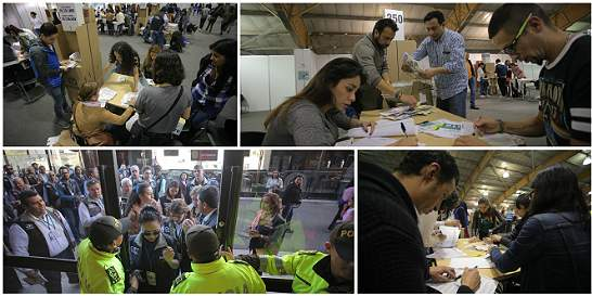 Fotos: la jornada de conteo de votos en todo el país