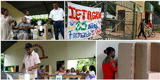 En fotos: la jornada de votaciones en Conejo, Guajira