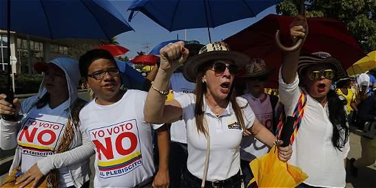 Reacciones de los simpatizantes del 'No' en el plebiscito